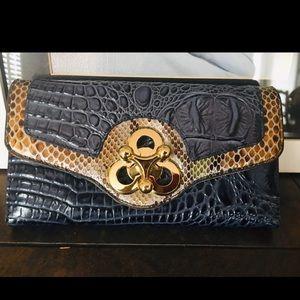 Michael Kors snakeskin clutch & wallet
